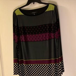 Nine West Long Sleeve Pattern Dress